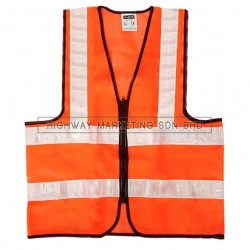 Hi-Safe HSF-40-1400-O High Visibility Safety Waiscoat Vest Orange