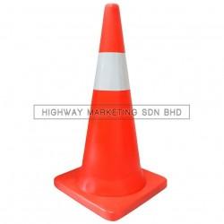 "Hi-Safe SM-PVC 30"" Safety HDPE Traffic Road Cone"