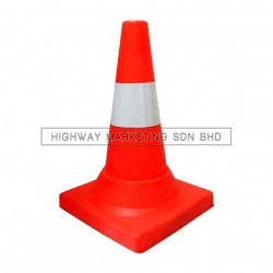 "Hi-Safe SM-PVC 18"" Safety HDPE Traffic Road Cone"