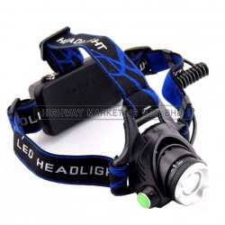Hi-Safe HSF-40-0600 LED Cree Rechargeable Head Torch Light