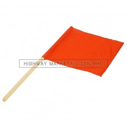 Hi-Safe Wooden Stick PVC Traffic Flag