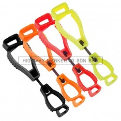 Hi-Safe Red/Black/Yellow/Orange Glove Clip Holder