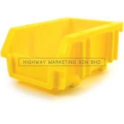 Matlock Yellow Plastic Storage Bin
