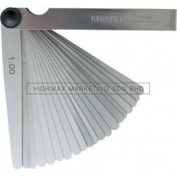 Kennedy KEN5180710K 10 Blade Metric Feeler Gauge