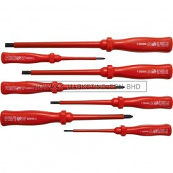 Kennedy KEN5725900K Electrician VDE Square Section Handle Screwdriver Set of 7
