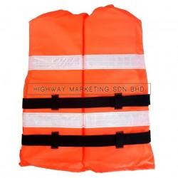Hi-Safe HSF-40-0085 Marine Life Jacket with Reflective Back