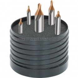 SwissTech SWT1255155A HSS Metric TiN Tipped Centre Drill Set of 5