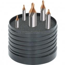 SwissTech SWT1255155A HSS Metric TiN Tipped Centre Drill Set of 5