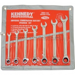 "Kennedy KEN5822230K 3/8""-3/4"" Professional Ratchet Combination Spanner Set of 7"