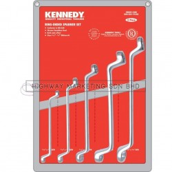 "Kennedy KEN5821950K 3/16""-3/4"" Double Ended Ring Spanner Set of 5"