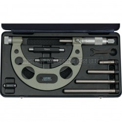 Oxford OXD3353000K 0-100mm Interchangeable Anvil Micrometer