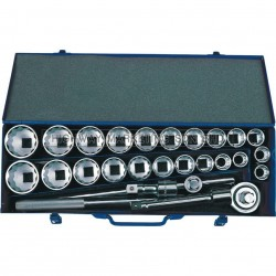 "Senator SEN5820200K 3/4"" SQ DR MM/Inch Socket Set of 26pcs"