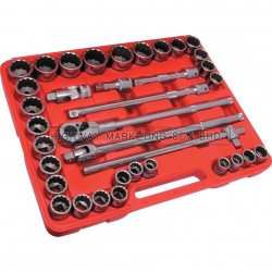 "Kennedy KEN5828740K 3/4"" SQ DR MM/INCH Socket Set of 36pcs"