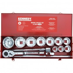 "Kennedy KEN5829470K 1"" SQ DR Metric Socket Set of 15pcs"