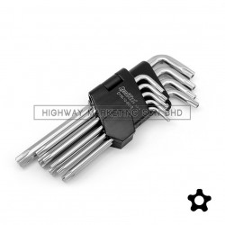 Dynatool DYN-10-9019 5 Point Star Torx Key Tamper Proof Wrench Set of 9