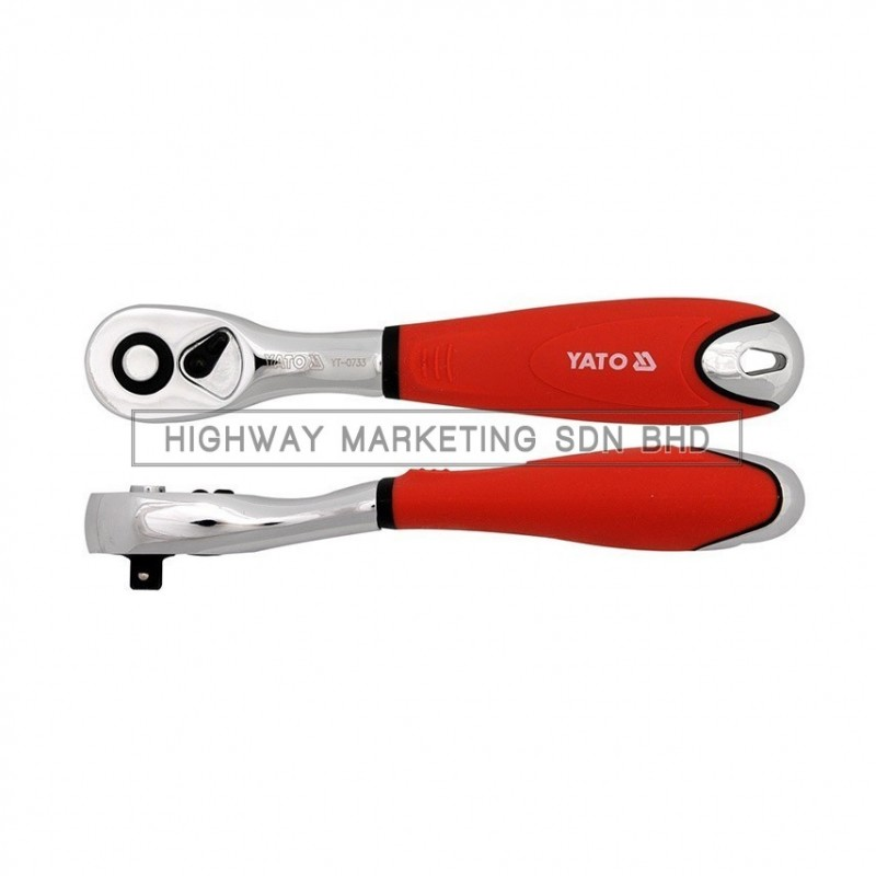 """Yato YT-0734 3/8"""" Quick Release Curved Ratchet Handle"""