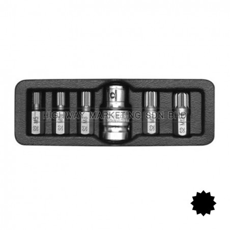 Yato YT-0414 Spline Screwdriver Bit Set of 6pcs