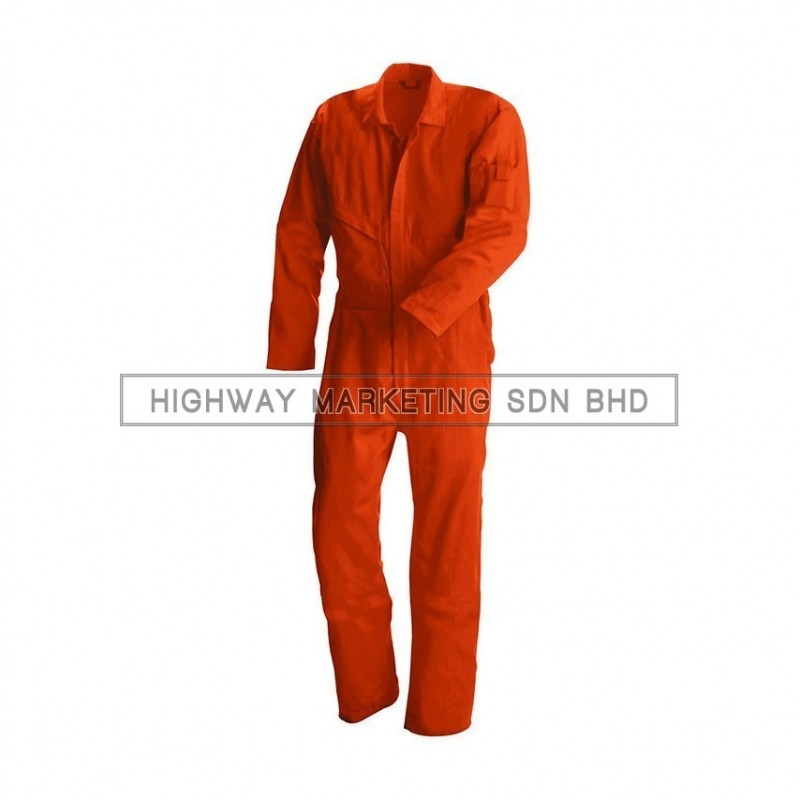 Supersonic Safety Non-Reflective Coverall Orange