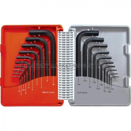 Kennedy KEN6011060K Metric/Inch Hexagon Key Set of 20pcs