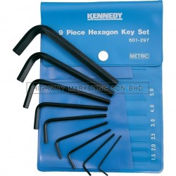 Kennedy KEN6012970K 1.5-10mm Hexagon Wrench Set of 9pcs
