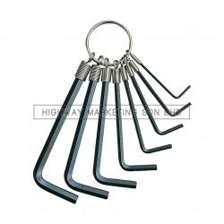 Kennedy KEN6012980K 1.5-6mm Hexagon Key Ring Set of 8pcs