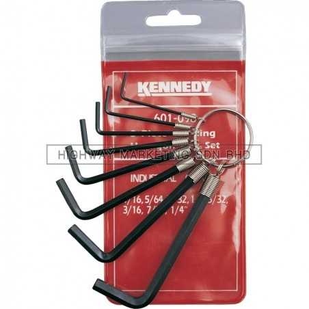 "Kennedy KEN6010980K 1/16""-1/4"" Key Ring Set of 8pcs"