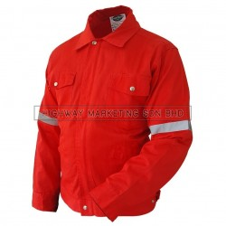Supersonic Safety Reflective Workwear Jacket Red