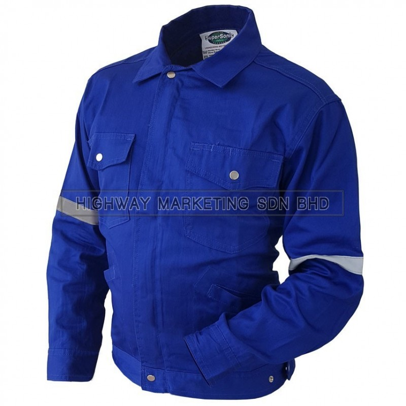 Supersonic Safety Reflective Workwear Jacket Blue