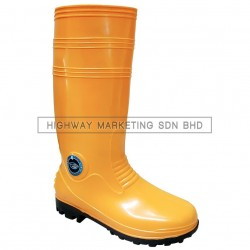 Supersonic Yellow Safety Wellington Rain Boot