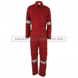 Supersonic Safety Reflective Coverall Red