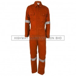 Supersonic Safety Reflective Coverall Orange