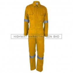 Supersonic Safety Reflective Coverall Yellow