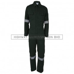 Supersonic Safety Reflective Coverall Dark Green