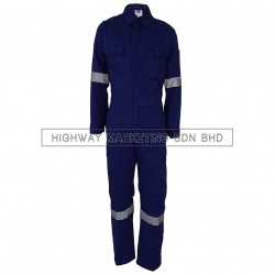 Supersonic Safety Reflective Coverall Dark Blue