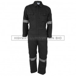 Supersonic Safety Reflective Coverall Grey