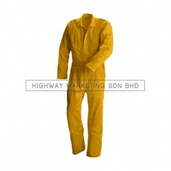 Supersonic Safety Non-Reflective Coverall Yellow