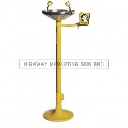 Proguard PG-5060 SS Pedestal Mounted Eyewash with Stainless Steel Bowl - 1