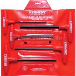 Kennedy KEN6016450K 4-10mm T-Handle Hexagon Wrench Set of 5pcs - 1
