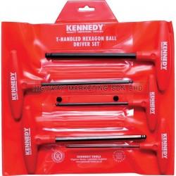 Kennedy KEN6027650K 4-10mm Hexagon T-Handle Ball Driver Set of 5pcs - 1