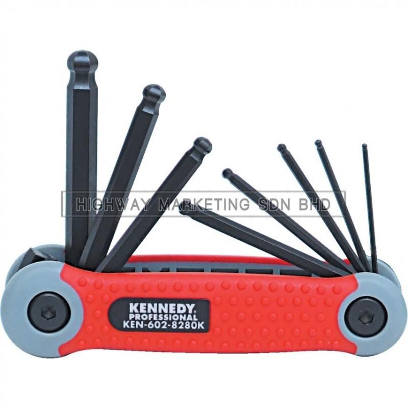 Kennedy KEN6028280K 1.5-8mm Pro-Torq Hexagon Ball Wrench Clip of 8pcs - 1