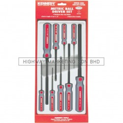 Kennedy KEN6022590K 1.5-10mm Hexagon Ball Driver Set of 9pcs - 1