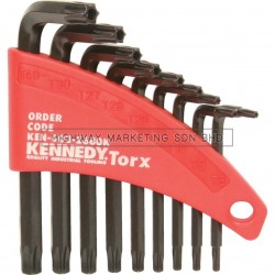 Kennedy KEN6032680K T8-T40 L-Wrench Torx (Tamper-Proof) Key Set of 9pcs