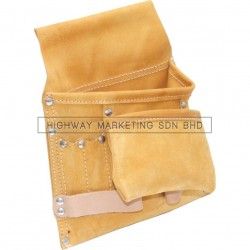 Kennedy Suede Leather 7-Pocket 2-Loop Nail & Tool Pouch