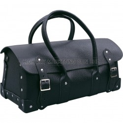 "Kennedy 16""/21"" Barn Type Black Leather Tool Bag"