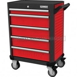 "Kennedy KEN5942140K Red-28"" 5 Drawer Roller Cabinet"
