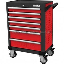 "Kennedy KEN5942340K Red-28"" 7 Drawer Roller Cabinet"