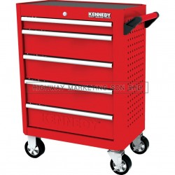 "Kennedy KEN5942120K Red-28"" 5 Drawer Roller Cabinet"