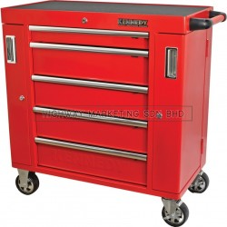 "Kennedy KEN5942620K Red-36"" 5 Drawer Roller Cabinet"