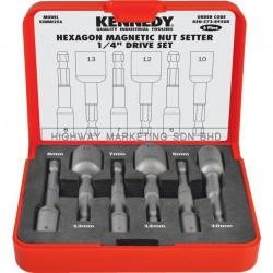 """Kennedy KEN5738950K 1/4"""" Hexagon Magnetic Nutsetter Set of 6pcs"""