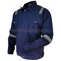 Hi-Safe Safety Reflective Workwear Jacket Dark Blue M - 4XL